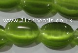 CCT703 15 inches 10*12mm oval cats eye beads wholesale