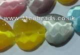 CCT992 15 inches 18*18mm faceted heart cats eye beads wholesale