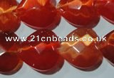 CCT993 15 inches 18*18mm faceted heart cats eye beads wholesale