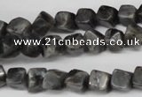 CCU100 15.5 inches 6*6mm cube black labradorite beads wholesale