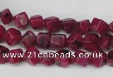 CCU102 15.5 inches 6*6mm cube dyed white jade beads wholesale