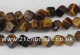 CCU104 15.5 inches 6*6mm cube yellow tiger eye beads wholesale