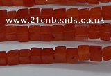 CCU305 15.5 inches 4*4mm cube red agate beads wholesale