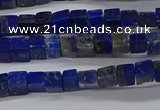 CCU315 15.5 inches 4*4mm cube lapis lazuli beads wholesale