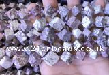 CCU403 15.5 inches 8*10mm - 14*16mm cube osmanthus stone beads