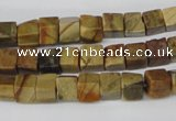 CCU41 15.5 inches 6*6mm cube picasso jasper beads wholesale