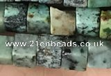 CCU487 15.5 inches 6*6mm cube African turquoise beads wholesale