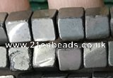 CCU490 15.5 inches 6*6mm cube pyrite gemstone beads wholesale