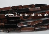 CCU523 15.5 inches 4*13mm cuboid mahogany obsidian beads wholesale