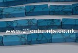 CCU725 15.5 inches 4*13mm cuboid imitation turquoise beads wholesale