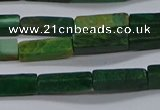 CCU735 15.5 inches 4*13mm cuboid African jade beads wholesale