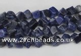 CCU90 15.5 inches 4*4mm cube sodalite gemstone beads wholesale