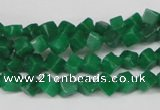 CCU92 15.5 inches 4*4mm cube dyed white jade beads wholesale
