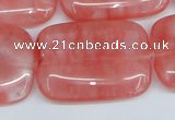 CCY163 15.5 inches 25*35mm rectangle cherry quartz beads wholesale