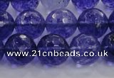 CCY606 15.5 inches 16mm faceted round blue cherry quartz beads