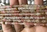CCY630 15.5 inches 4mm round volcano cherry quartz beads wholesale