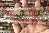 CCY633 15.5 inches 10mm round volcano cherry quartz beads wholesale