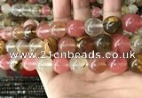 CCY635 15.5 inches 14mm round volcano cherry quartz beads wholesale