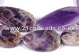 CDA03 twisted oval dogtooth amethyst quartz beads Wholesale