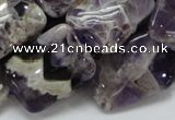 CDA06 15.5 inches 18*25mm rectangle dogtooth amethyst quartz beads