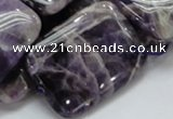 CDA08 15.5 inches 25*35mm rectangle dogtooth amethyst quartz beads