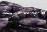 CDA16 15.5 inches 10*35mm rice dogtooth amethyst quartz beads