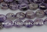 CDA300 15.5 inches 7*8mm oval dyed dogtooth amethyst beads