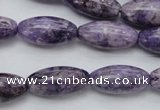 CDA330 15.5 inches 10*20mm rice dyed dogtooth amethyst beads