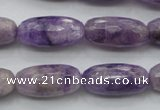 CDA338 15.5 inches 10*22mm faceted drum dyed dogtooth amethyst beads