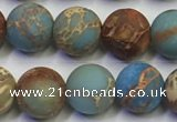 CDE1032 15.5 inches 8mm round matte sea sediment jasper beads