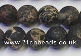 CDE1047 15.5 inches 8mm round matte sea sediment jasper beads