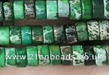 CDE1227 15.5 inches 2.5*4mm heishi sea sediment jasper beads
