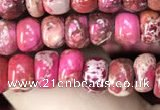 CDE1264 15.5 inches 4*6mm rondelle sea sediment jasper beads