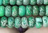 CDE1267 15.5 inches 4*6mm rondelle sea sediment jasper beads