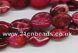 CDE14 15.5 inches 10*14mm oval dyed sea sediment jasper beads