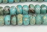 CDE1400 15.5 inches 3*4mm rondelle sea sediment jasper beads