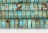 CDE1406 15.5 inches 3*4mm heishi sea sediment jasper beads wholesale