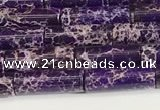 CDE1422 15.5 inches 4*13mm tube sea sediment jasper beads wholesale