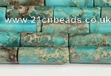 CDE1424 15.5 inches 4*13mm tube sea sediment jasper beads wholesale