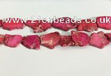 CDE1433 25*35mm - 35*45mm freefrom sea sediment jasper slab beads