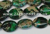 CDE181 15.5 inches 12*16mm oval dyed sea sediment jasper beads