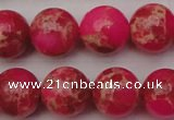 CDE2017 15.5 inches 16mm round dyed sea sediment jasper beads