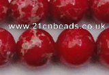 CDE2031 15.5 inches 22mm round dyed sea sediment jasper beads