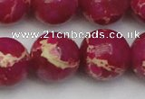 CDE2040 15.5 inches 18mm round dyed sea sediment jasper beads