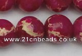 CDE2041 15.5 inches 20mm round dyed sea sediment jasper beads