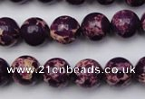 CDE2047 15.5 inches 10mm round dyed sea sediment jasper beads