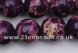 CDE2052 15.5 inches 20mm round dyed sea sediment jasper beads