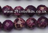 CDE2145 15.5 inches 16mm faceted round dyed sea sediment jasper beads