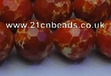 CDE2503 15.5 inches 20mm faceted round dyed sea sediment jasper beads