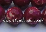 CDE2525 15.5 inches 22mm faceted round dyed sea sediment jasper beads